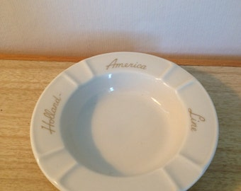 Vintage Holland America Line Ashtray