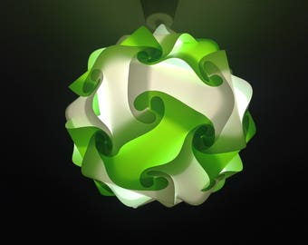 Light green and white lamp sphere puzzle