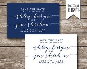 Save the Date - Digital Download - Wedding Stationary - Printable Wedding - Custom Color