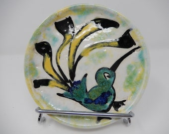 Ceramic plate, limited edition, free shipping
