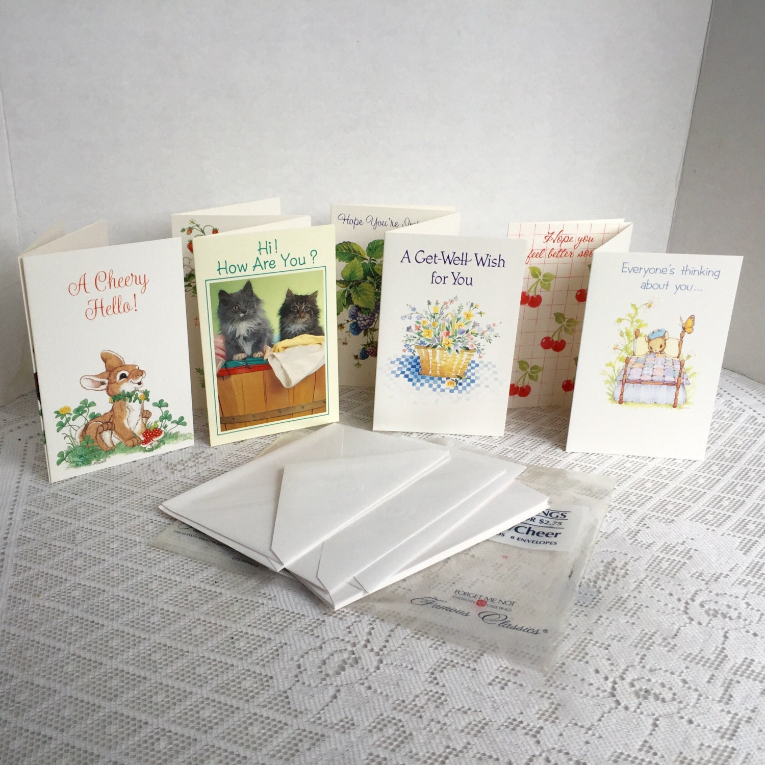 Greeting Cards And Envelopes Vintage Get Well Cards Forget