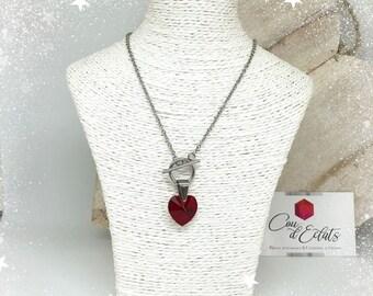 Necklace heart Swarovski® - Red