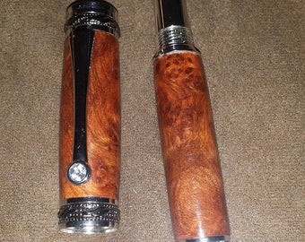 Handcrafted Amboyna Majestic Fountain Pen