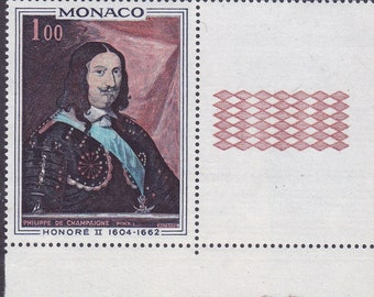 Monaco 1969 Third Stamps in the Series 'Princes of Monaco' Issued. Portraits of Honore II & Louise-Hippolyte Colorful Attractive Portraits.