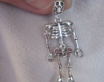 Dancing and Swaying Full Body Skeleton Earrings in Choice of Silver or Gold