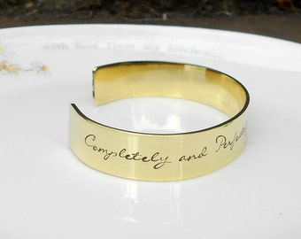 Mrs Darcy Quote, Jane Austen Quote Bracelet, Completely, Perfectly, Incandescently Happy, Pride and Prejudice, Literary Quote Gifts.