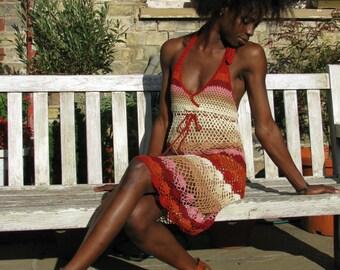 Handmade crochet dress 02 Vinatge.