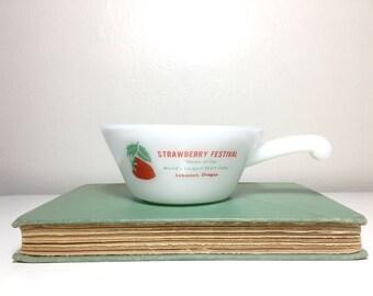 Vintage Oregon Strawberry Festival Soup Dish