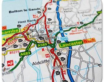 Lancaster Map Coasters