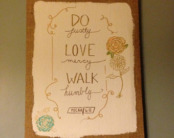 Do. Love. Walk. (Micah 6:8)