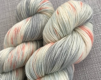 Coming around again, inspired hand dyed yarn (80 super wash BFL 20% nylon) 4 ply / fingering weight
