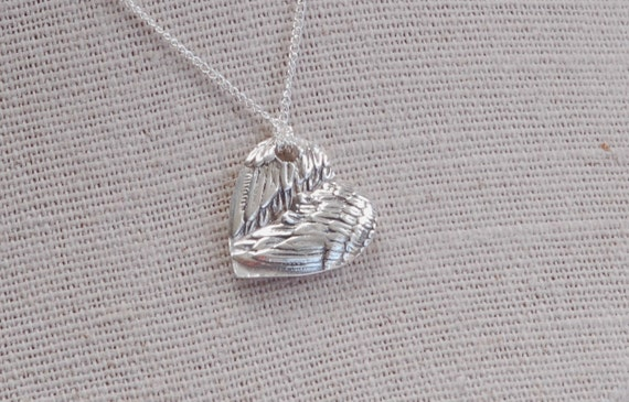 Valentines Gift - Mommy Angel Wing Heart Pendant