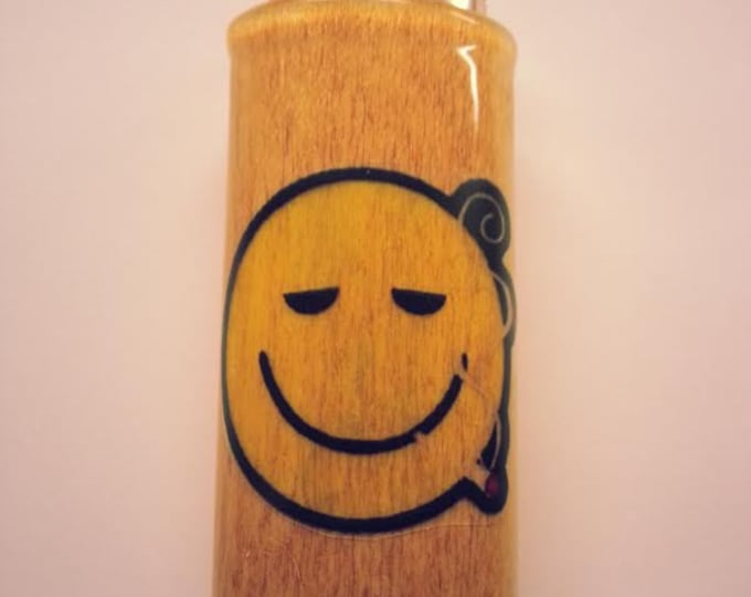 Smiley Face Joint Lighter Case, Lighter Holder, Lighter Sleeve Pot Weed, Marijuana, Ganja