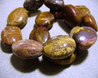 Rainbow Jasper Beads Gemstone Oval 20x16MM