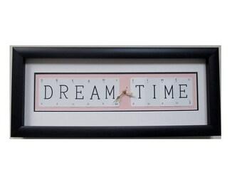 Dream Time Word Art Clock