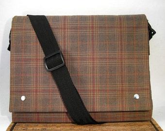 Plaid Satchel / Messenger Bag