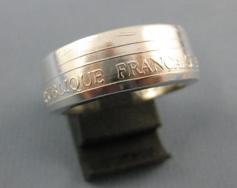 Coin ring muntenring made of a 100 Franc 1990 France