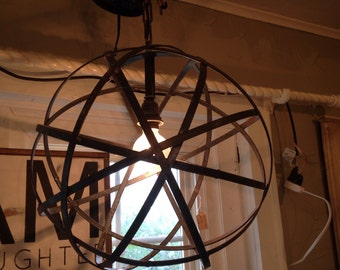 Spear chandelier, pendant, iron light