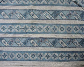 vintage cotton a VIP print cranston print works cheater quilt large striped BTY