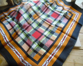 Vintage Japanese scarf by Poali vibrant color and design..excellent condition!