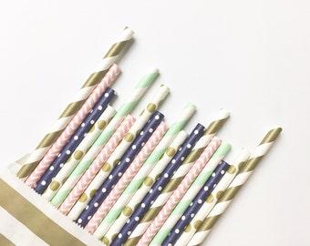 California Boardwalk Straw Mix//paper straws, straws, party decorations, party supplies, birthday party, baby shower, wedding, bachelorette