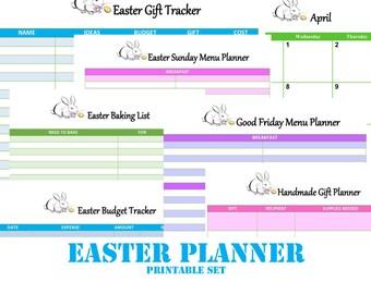 Printable Easter Planner Set