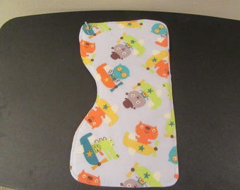 """Burp Cloth """"Animals in Airplanes"""""""