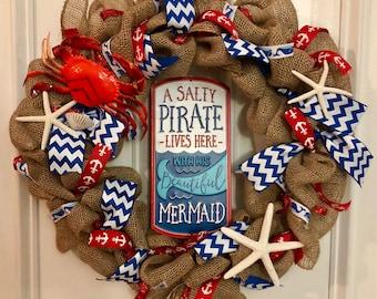 Nautical beach wreath