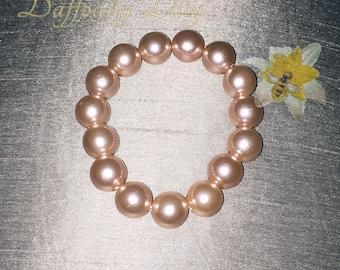 Rose Gold Faux Pearls Bracelet