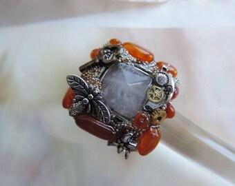 "Jewelry steamunk. Steampunk jewelry. Ring ""Pyramids of Giza""."