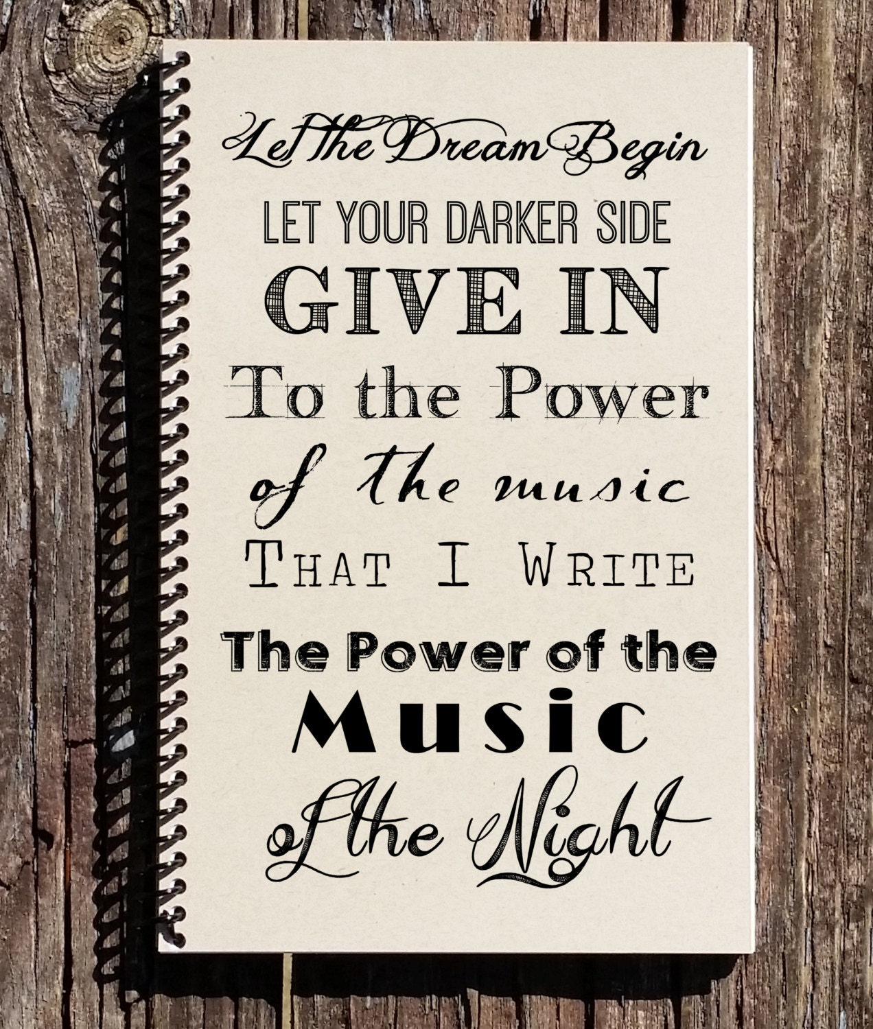 Opera Quotes Phantom Of The Opera Notebook Music Of The Night Listen To
