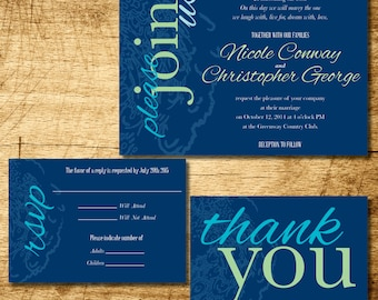 Peacock wedding invitation printable