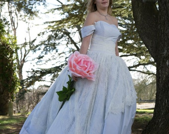 Alice in wonderland alternative wedding dress, steampunk, victorian, gothic, pale blue silk wedding dress, princess bridal gown