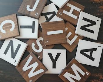 Wooden Scrabble Tiles
