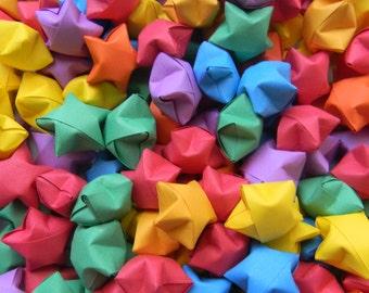 200 Rainbow Origami Stars, Lucky Stars, Wishing Stars