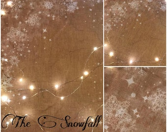 30 ct. count Snowfall Linen The Primitive Hare cross stitch fabric