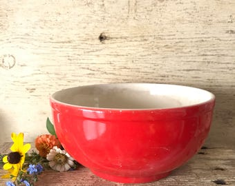 Universal Cambridge oven proof red mixing bowl
