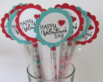 Classroom Valentines, Kids Valentine Pencil Favors, Valentine Pencil Favors, Kids Valentine Favors, Personalized Valentines, Pencils Favors