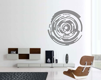 Science art - Star Trails and David Hilbert inspirational quote large vinyl wall removable decor science decal educational  art (ID: 121060)