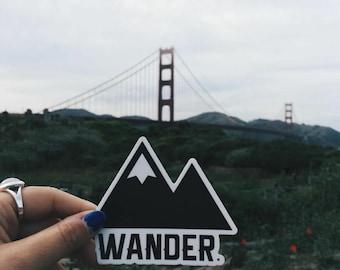 Traveler Kit and Co Sticker Wander Adventure Travel Decal Car Laptop Road trip Explore Wanderlust Wunderlust
