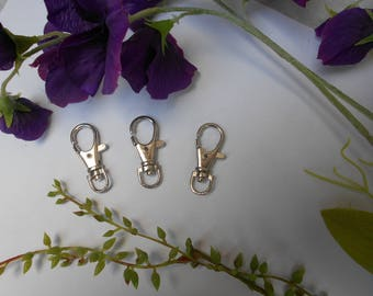 1 silver plated brass lobster clasp