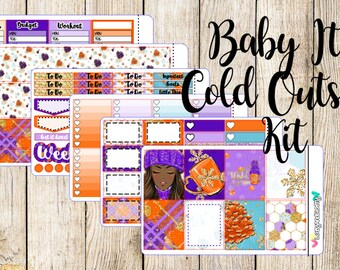 Baby It's Cold Outside Weekly Kit - Planner Sticker Kit for the ECLP, Happy Planner, and more!