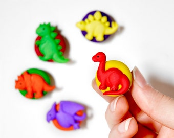Dinosaur Birthday Magnets, Dino Baby Shower, Baby Girl Boy Nursery Decor, Cute Rainbow Kids Room, Fun Office School Home Playroom Decoration