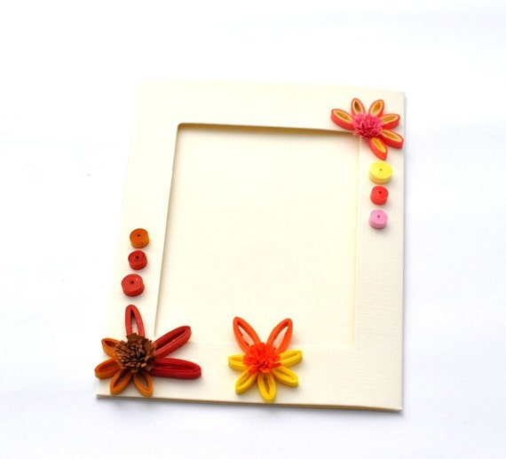 Quilled Photo Frame Card Paper Picture Frame Paper
