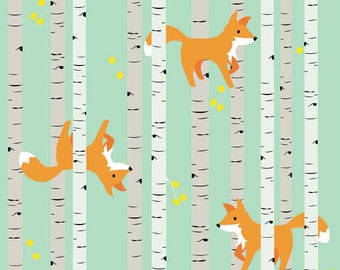 1.20 meters (1.30 yards) Marin Sutton - Good Natured - Natured Fliends Mint By Riley Blake Designs Cotton Quilting Fabric