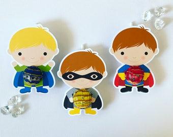 Superhero lollipop holders