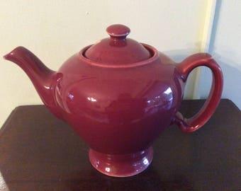 McCormick Tea Co Maroon Teapot