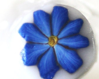 Navy Blue Flower, Polymer Clay Cane, Dark Blue Wildflower Raw Unbaked Cane