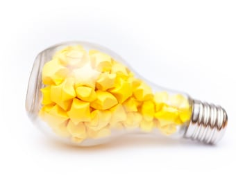 Lucky Star Lightbulb Jar