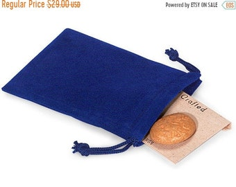 TAX SEASON Stock up 100 Pack Blue Velvet Drawstring Bags great for Weddings, Party favors, Jewelry, Etc
